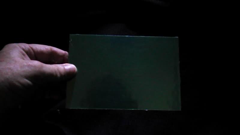 Плоские обои зелёная плёнка по фольге 1