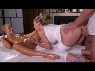 Nathaly Cherie and Victoria Pure - MassageRооms [All Sex, Hardcore, Blowjob, Threesome, Oiled]