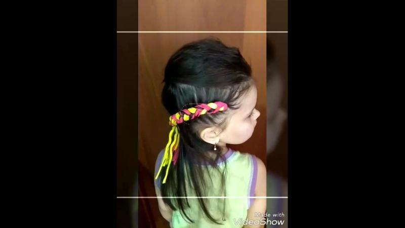 коса с нитями