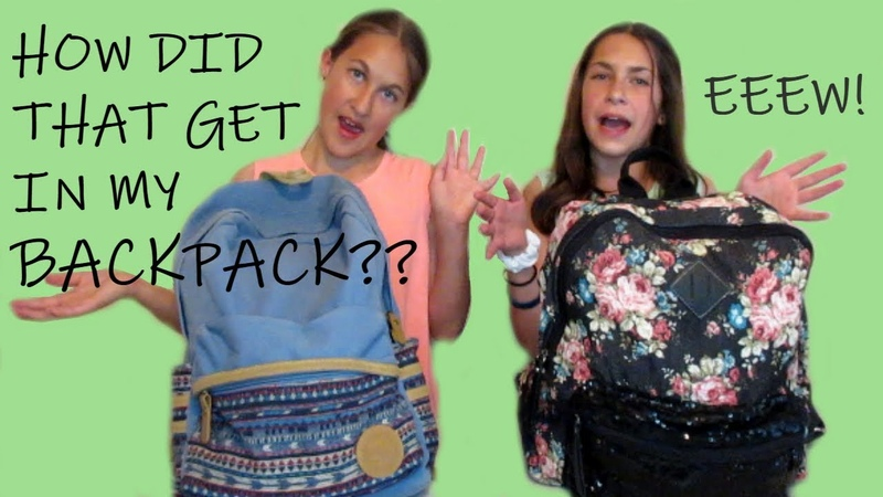 What's in our backpacks 2018 schools out