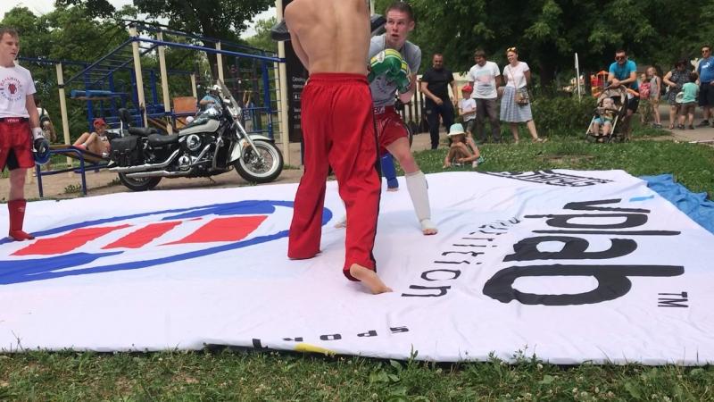 Кик боксинг АС отработка на лапах 24 06 2 18
