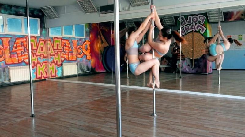 Pole PANK Dance studio/ Ученицы Ксения и Алена /Pole dance Омск