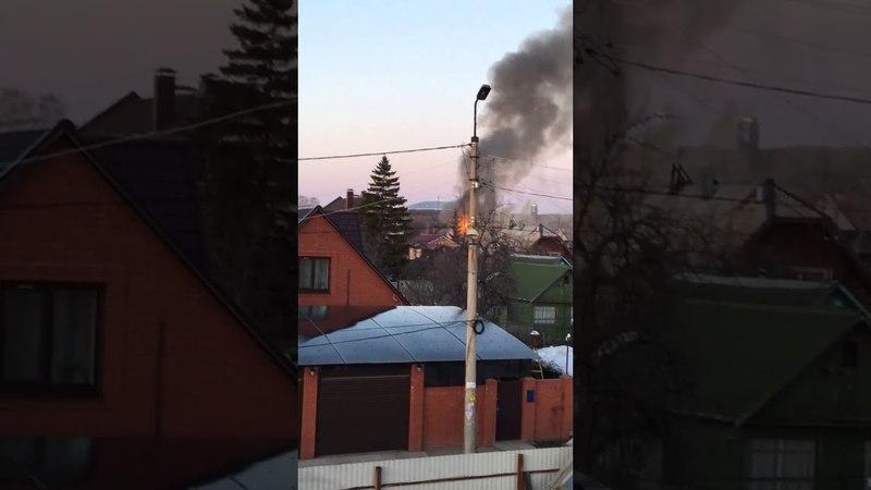 14.04.2018 г. в Самаре на 9-ой просеке сгорел коттедж