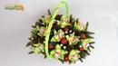 Букет из конфет в корзине КОРЗИНА С ОРХИДЕЯМИ ☆ Новогодние букеты своими руками ☆ Diy