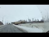 Последствия гололедицы_ в Тамбовской области фура вылетела с трассы