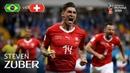 Steven ZUBER Goal Brazil v Switzerland MATCH 9