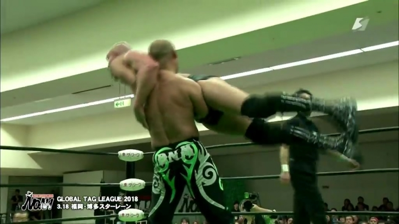 Cody Hall KAZMA SAKAMOTO vs Maybach Taniguchi Mitsuya Nagai NOAH Global Tag League 2018 Day 1