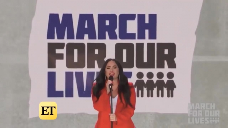Wilmer Valderrama Supports Hero Demi Lovato at March For Our Lives (Exclusive)