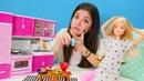 Barbie'nın unutkanlığına karşı karışım hazırlıyoruz Kız oyunu