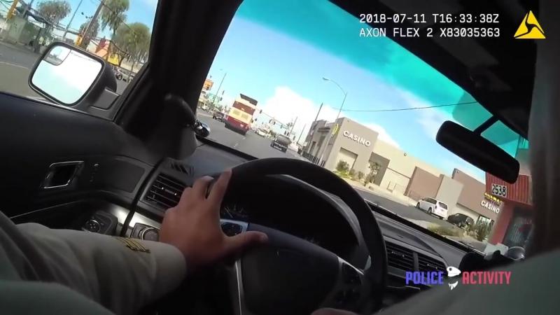 Как в кино полиция Лас Вегаса обнародовала кадры погони с перестрелкой на ходу