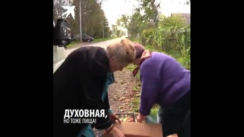 Питерская бабушка-блокадница взяла в кредит фургон и сама развозит на нём продукты для трёх сотен инвалидов.