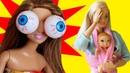 ЧЕЛЛЕНДЖ ВЫПУЧИ ГЛАЗА - мама Барби / Играем в куклы с Бетти