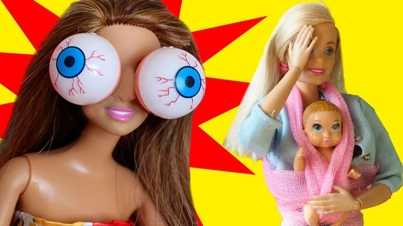 ЧЕЛЛЕНДЖ ВЫПУЧИ ГЛАЗА - мама Барби Играем в куклы с Бетти