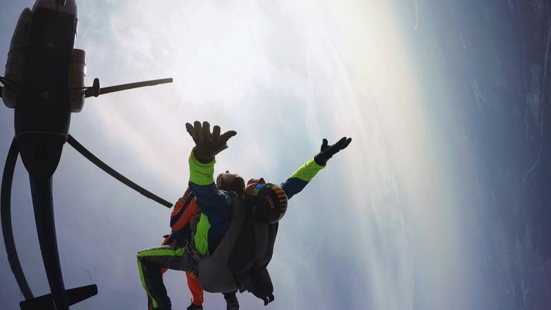 Аэроград Коломна - первый прыжок 01.09.18