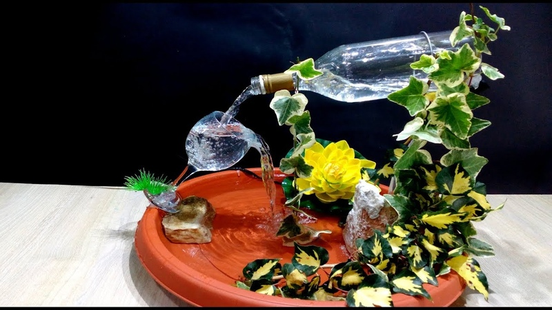 How to make a Fountain using a Glass Bottle / DIY