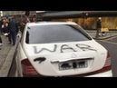 Saudi cars vandalised in london on yemen war anniversary - YOUTUBE