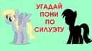 Угадай второстепенную пони по силуэту