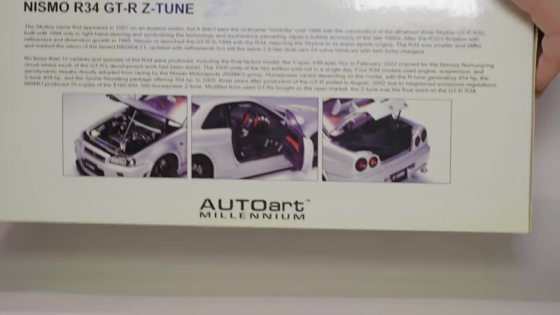 [Pro Cars Show] Вот почему Nissan Skyline GT-R Z-Tune Z2 R34 Nismo, самый дорогой в мире! AUTOart 118 4K Видео