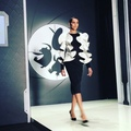Mary Leest on Instagram Amazing Dasha Gauser for the Penguins of Madagascar at the Mercedes-Benz fashion week Russia