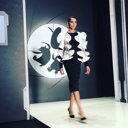 "Mary Leest on Instagram: ""Amazing Dasha Gauser for the Penguins of Madagascar at the Mercedes-Benz fashion week Russia 🐧🐧🐧 dashagauser MBFWRussia..."