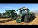 Уборка пшеницы Комбайном John Deere S685i и Трактором John Deere 8295R
