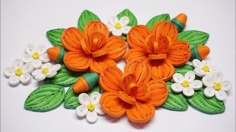 Quilling Flower V10 Tutorial | DIY Paper Flower Tutorial Handmade Decoration