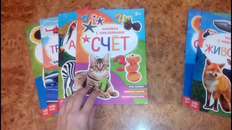 Набор книжек с наклейками