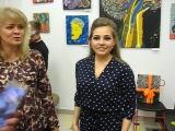 Открытие персональной выставки «Дерево счастья» Анастасии Магдалины. Библиотека На Стремянной (16 мая 2018)