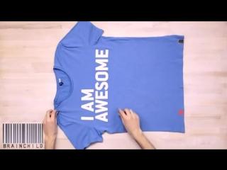 Как красиво и быстро сложить футболку.