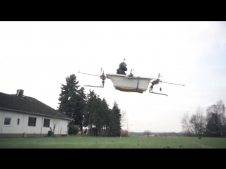 Mit der FLIEGENDEN BADEWANNE zum BÄCKER! _ Bemannte Drohne #4