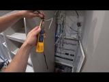 Поиск кабеля прибором fluke microscanner2