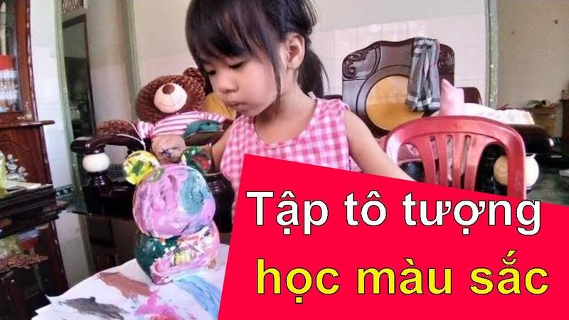 Bé Panda tập tô màu, tô tượng, hướng dẫn dạy con học màu sắc ❤ Việt Nam Channel ❤
