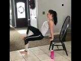 Cпортхакерша: Тренировка со стулом