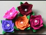 FLORES MAGICA de feltro e perolas - Fabric flower