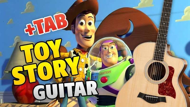 TOY STORY music on GUITAR (youve got a friend in me, fingerstyle cover with TABS)