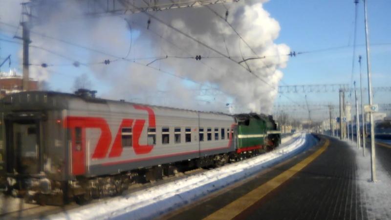 ретропоезд на Монино 23.02.18 с Ярославского вокзала Москвы