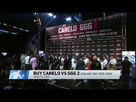 Watch LIVE! Canelo vs. GGG 2 official weigh-in Friday, Sept. 14 at 530pm ET230pm PT