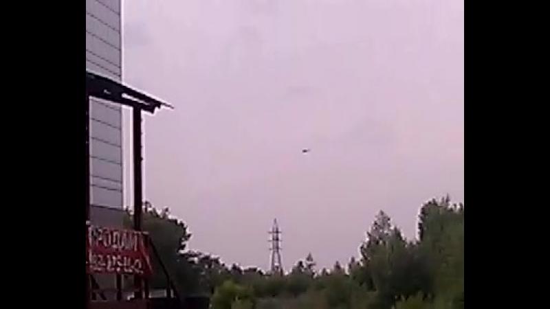 Вертолет у Авиаторов 2,Абакан, 21 июля 2018