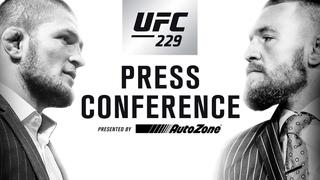 Прямая трансляция пресс-конференции главных участников UFC 229 Хабиба и МакГрегора.