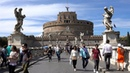 Рим. Мост и замок Святого Ангела. The bridge and Castel Sant'angelo. Rome. 4K video