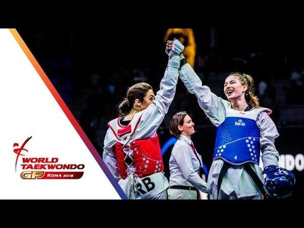 Roma 2018 World Taekwondo GP -Final [Female 67Kg] KOWALCZUK, ALEKSANDRA(POL) Vs MANDIC, MILICA(SRB)