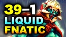 LIQUID vs FNATIC - 39-1 GG DISASTER! - TI8 THE INTERNATIONAL 8 DOTA 2
