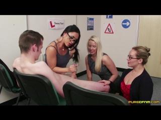 Ashley rider, hannah shaw and taylor shay - cfnm pure handjob boobs cum cumshot мастурбация камшот