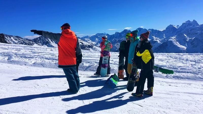 Первые шаги на сноуборде Эльбрус со SportFamily