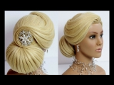 Wedding prom updo. Bridal hairstyle for long medium hair tutorial.