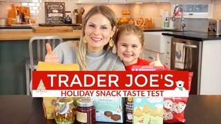 Trader Joe's Holiday Snacks Taste Test | GROCERY HAUL