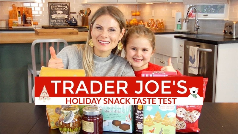 Trader Joe's Holiday Snacks Taste Test   GROCERY HAUL