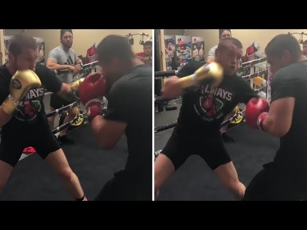 WHOA CANELO NO HEAD GEAR SIMULATED SPARRING LOOKING FAST FOCUSED FOR DECEMBER 15TH