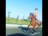 Маленькая азербайджанка круто скачет на лошади 90 км в час. Азербайджан Azerbaijan Azerbaycan БАКУ BAKU BAKI Карабах 2018 HD +18