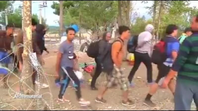 Migranten auf der Balkanroute werden mit Infos über Zielländer versorgt.